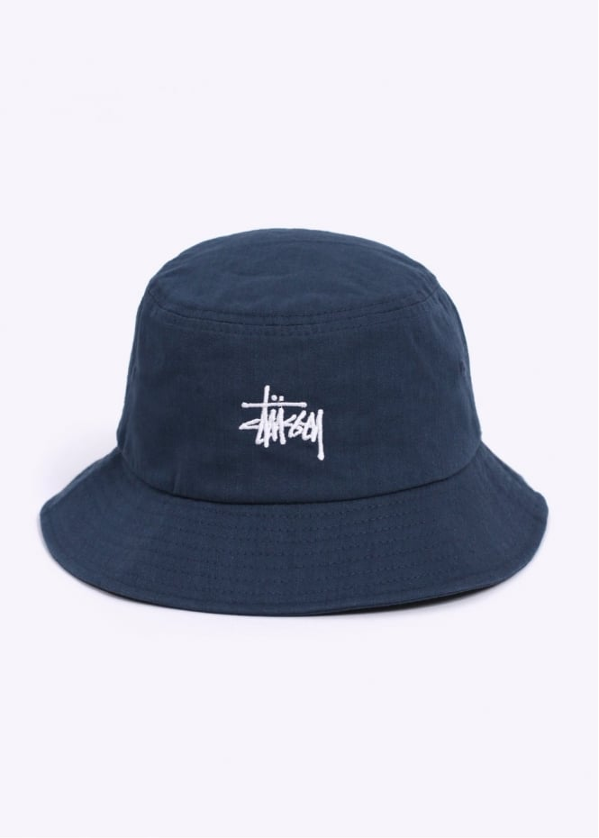 Stussy Herringbone Bucket Hat - Navy fd6670bb330