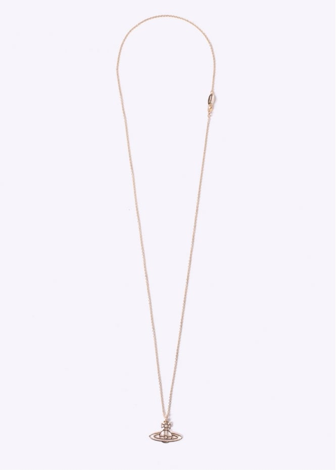 Vivienne Westwood Jewellery Thin Orb Pendant - Yellow Gold
