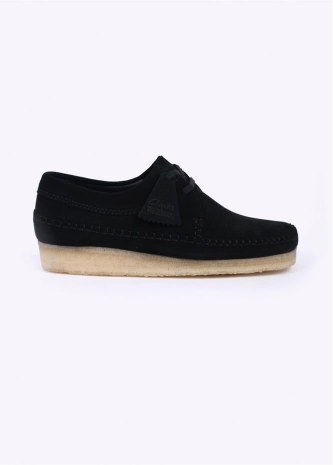 Clarks Originals Weaver Suede Shoes - Black