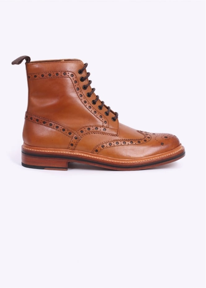 Grenson Fred Calf Boots - Tan