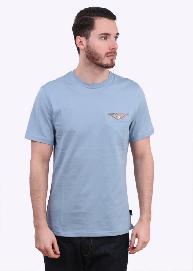 Barbour Walshaw Tee - Powder Blue