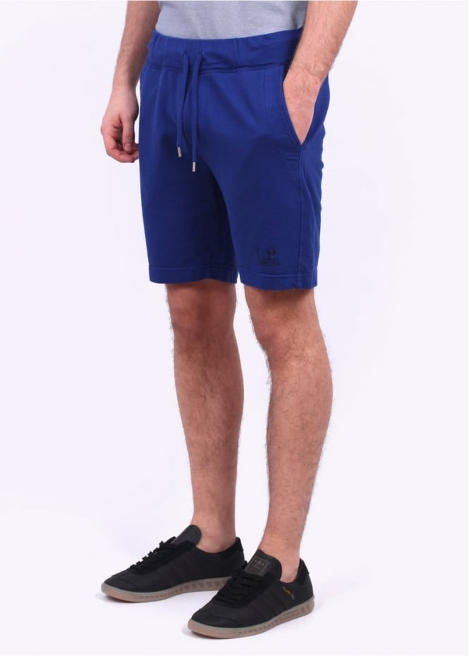 C.P. Company Fleece Logo Shorts - Bluette
