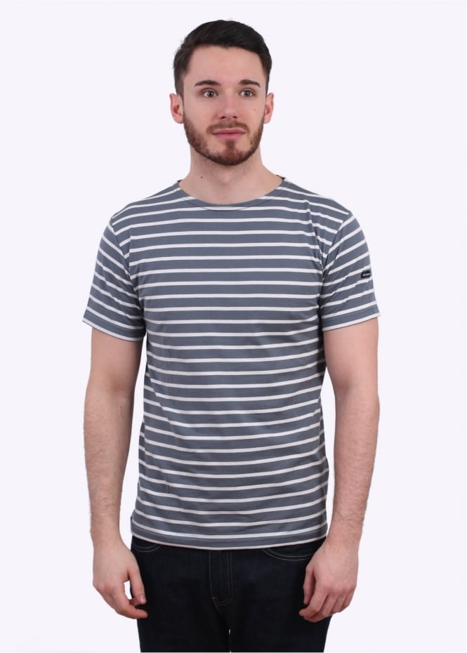 Armor Lux SS Sailor Shirt - Grey / White