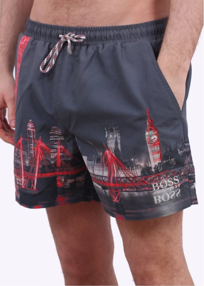 Hugo Boss Accessories Springfish Shorts - Open Grey