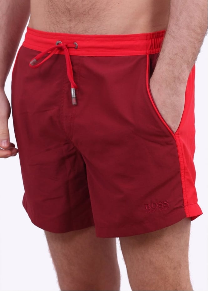 Hugo Boss Snapper Shorts - Open Red
