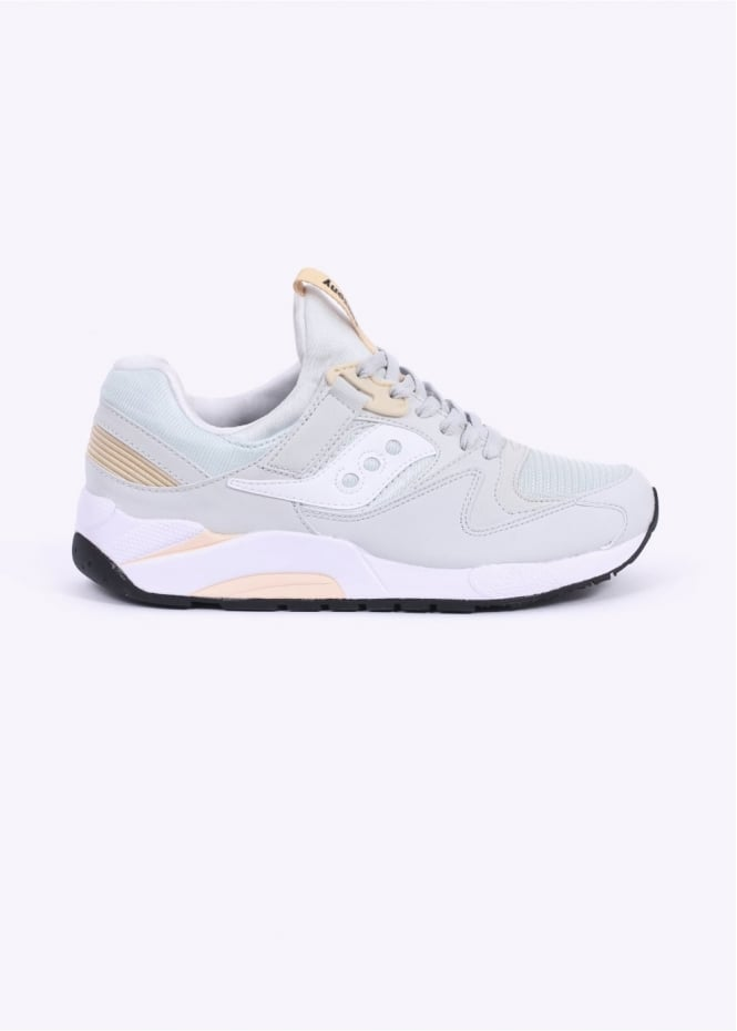 Saucony Grid 9000 Trainers - Light Grey