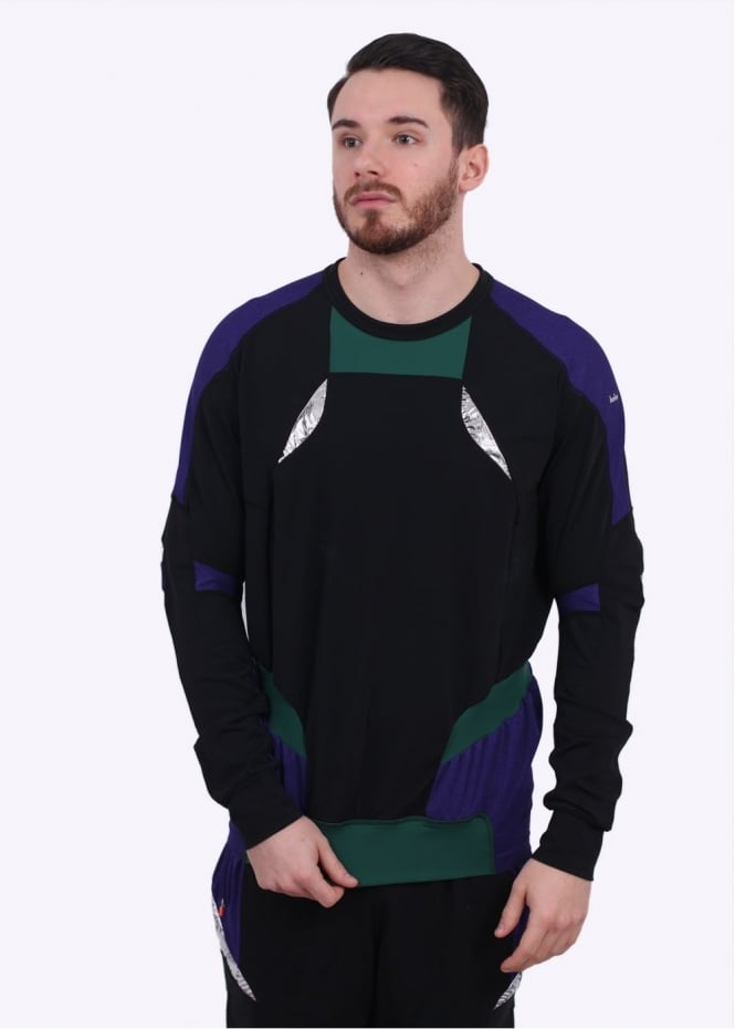 Adidas Originals Apparel x Kolor LS Hybrid Tee - Purple / Black / Green