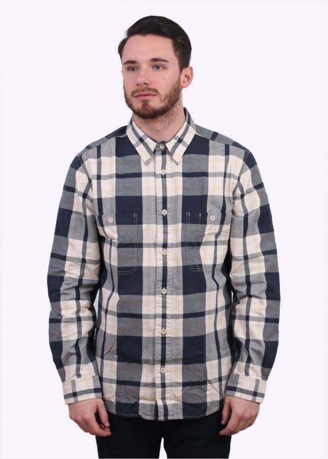 Filson Wildwood Shirt - Navy / Cream