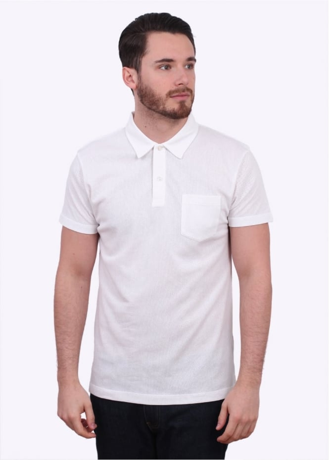 Sunspel SS Riviera Polo - White
