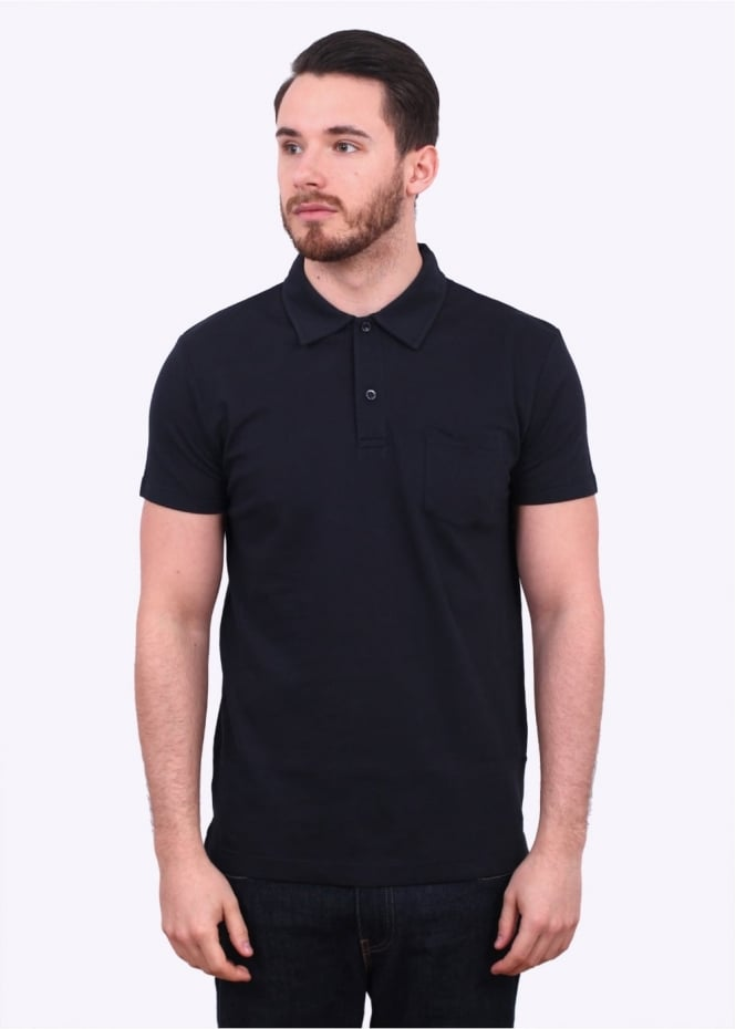 Sunspel SS Riviera Polo - Navy