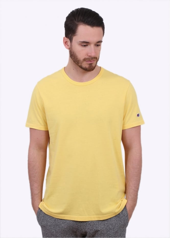 Champion Reverse Weave Classic SS Crew Tee - Light Yellow