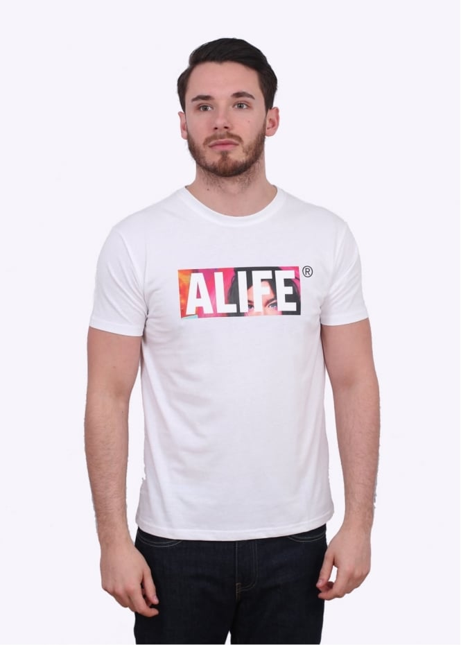 Alife stuck post tee white triads mens from triads uk for T shirt printing nyc same day