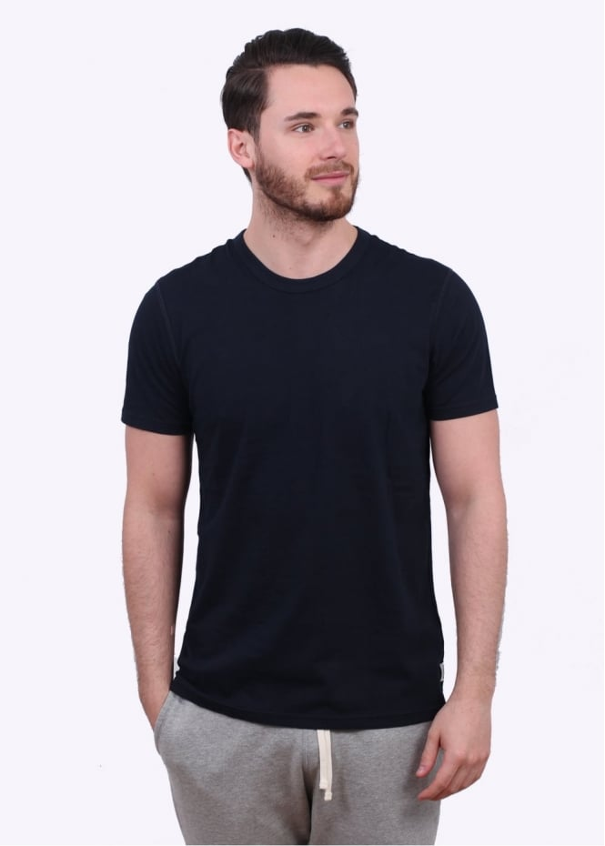Reigning Champ SS Jersey Crew Tee - Navy
