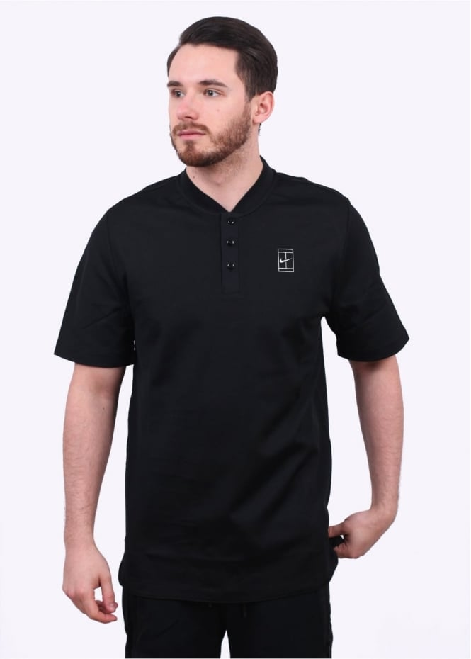 Nike Apparel NikeCourt Polo - Black / White