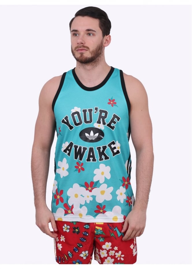 Adidas Originals Apparel x Pharrell Williams Daisy Tank - Turquoise