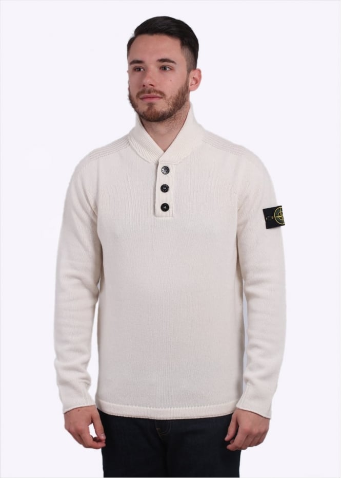 Stone Island Knit Polo - Cream