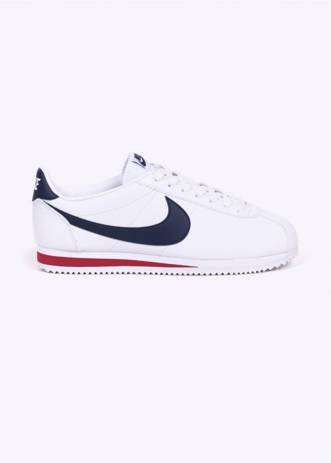 Nike Footwear Classic Cortez Leather - White / Navy