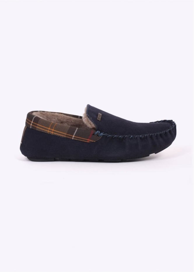 Barbour Monty Slippers - Navy Suede