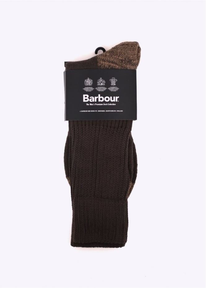 Barbour Terrain Socks - Dark Olive
