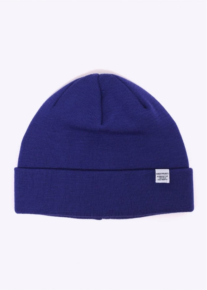 Norse Projects Top Beanie - Cornflower Blue