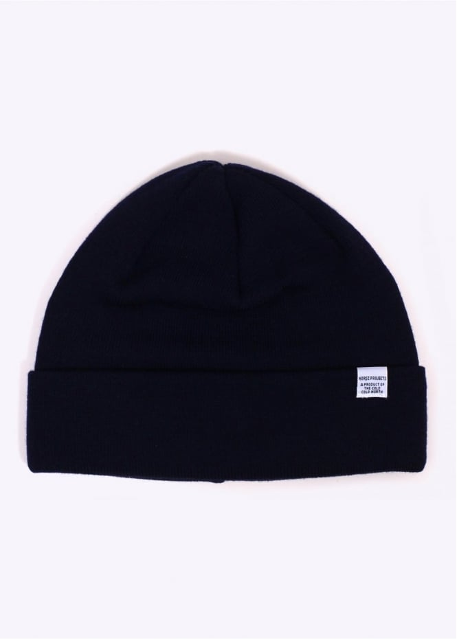 Norse Projects Top Beanie - Dark Navy