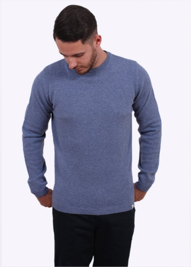 Norse Projects Sigfred Lambswool Sweater - Colony Blue