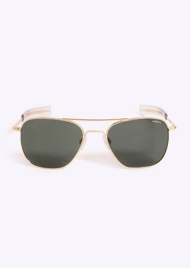 Randolph Engineering Aviator Sunglasses - Gold / AGX 55