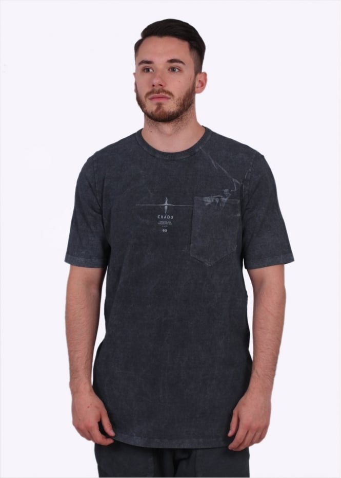 Stone Island Shadow Project Garment Dyed Tee - Charcoal