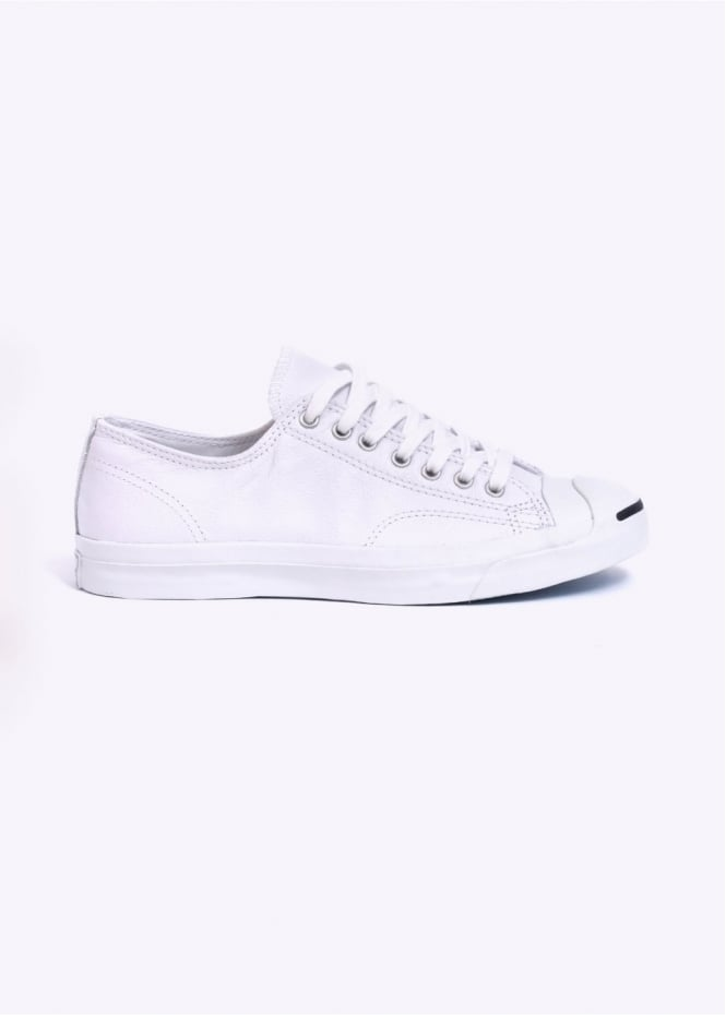 Converse Jack Purcell Leather Ox - White / Navy