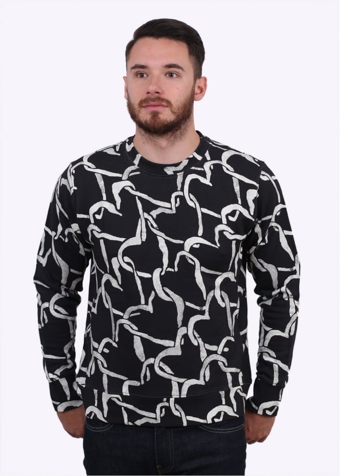 Paul Smith Heart Pattern Sweater - Black
