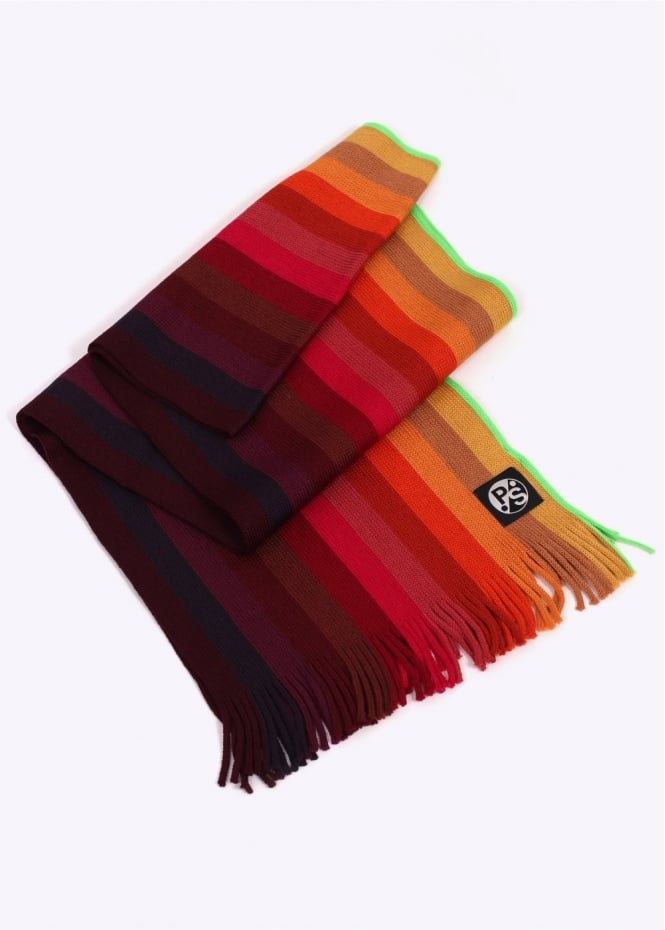 Paul Smith Gradient Scarf - Red / Multi