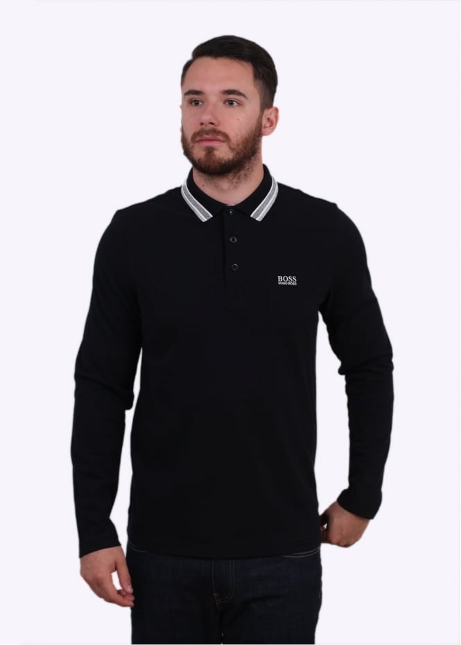 Hugo Boss Plisy Polo Shirt - Black
