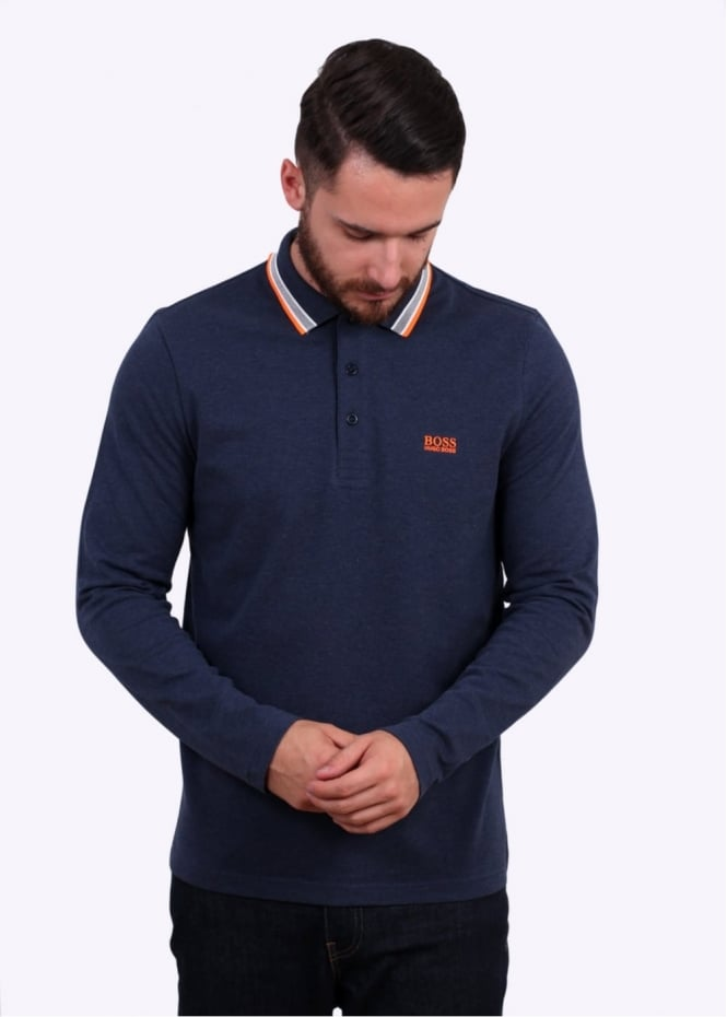 Hugo Boss Plisy Polo Shirt - Open Blue