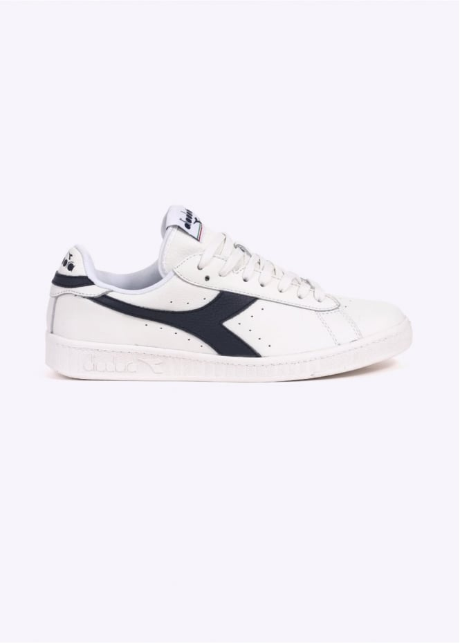 Diadora Game L Low Waxed - White / Dress Blue