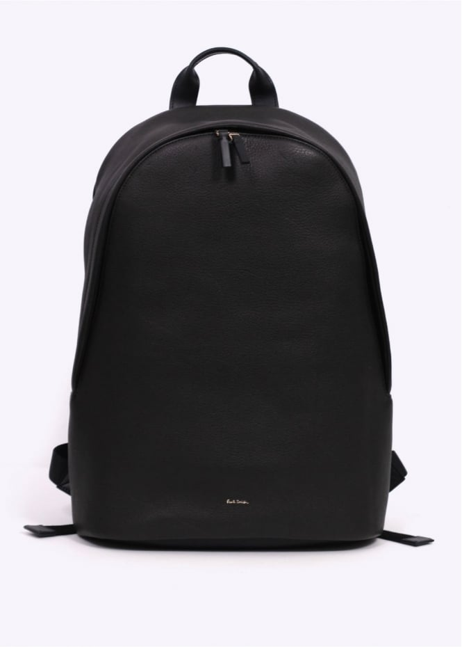 Paul Smith Leather City Web Backpack - Black
