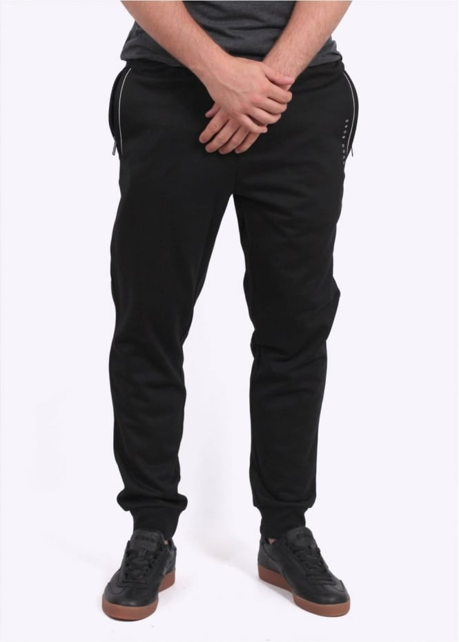 Hugo Boss Green L Cuffed Pants - Black
