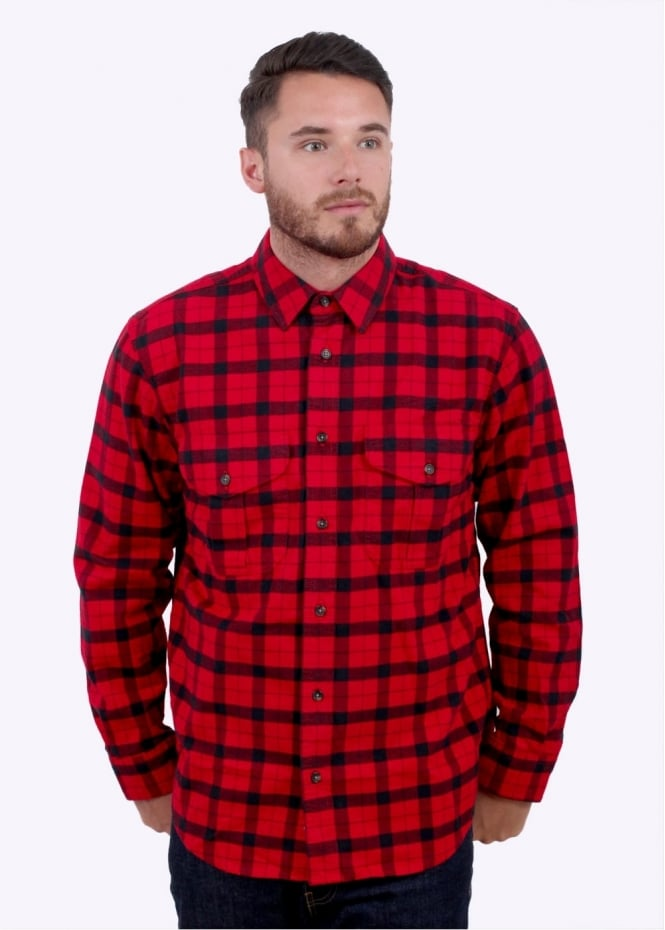 Filson Alaskan Guide Shirt - Red / Black