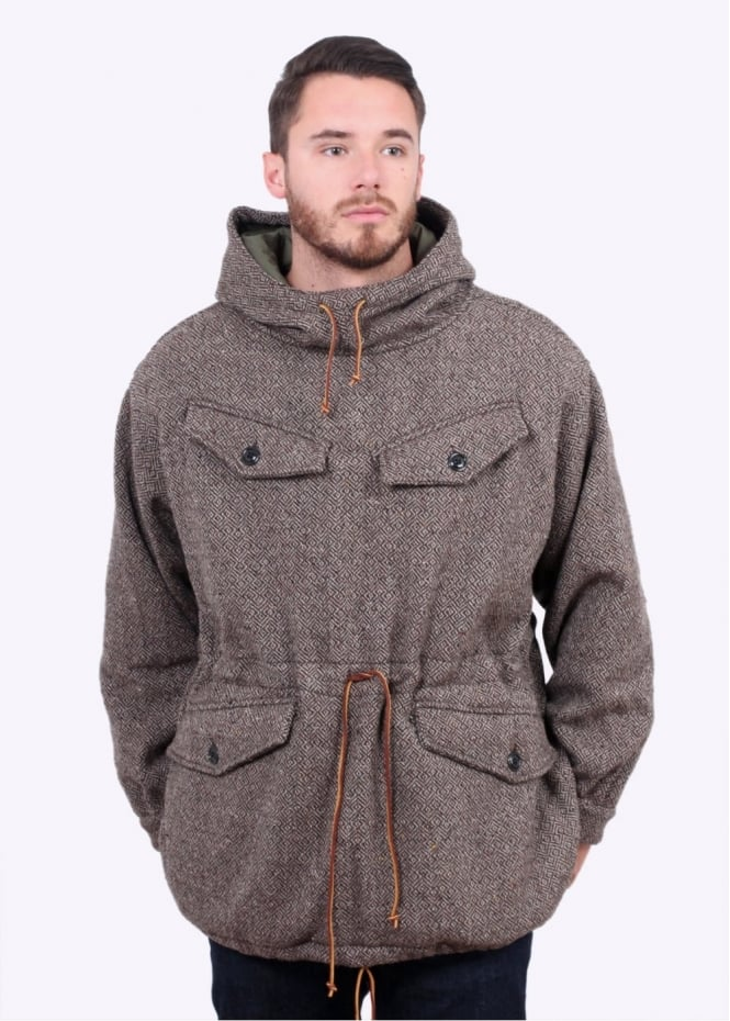 Monitaly Mountain Smock Jacket - Subalpino Maze Brown