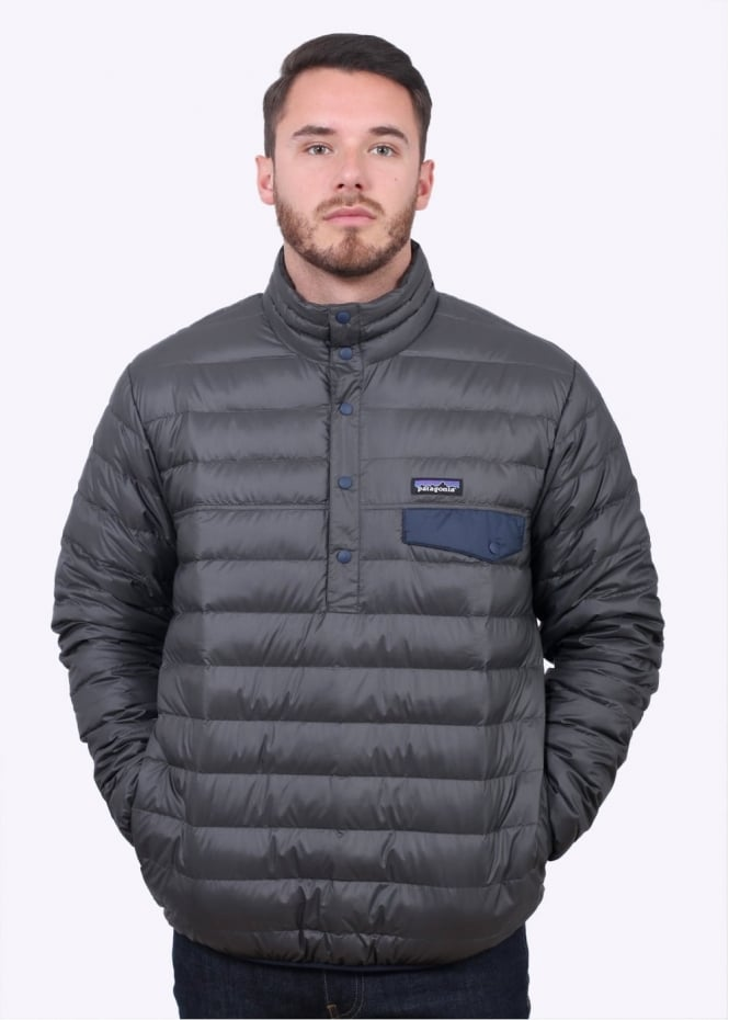 Patagonia Down Snap-T Pullover Jacket - Forge Grey