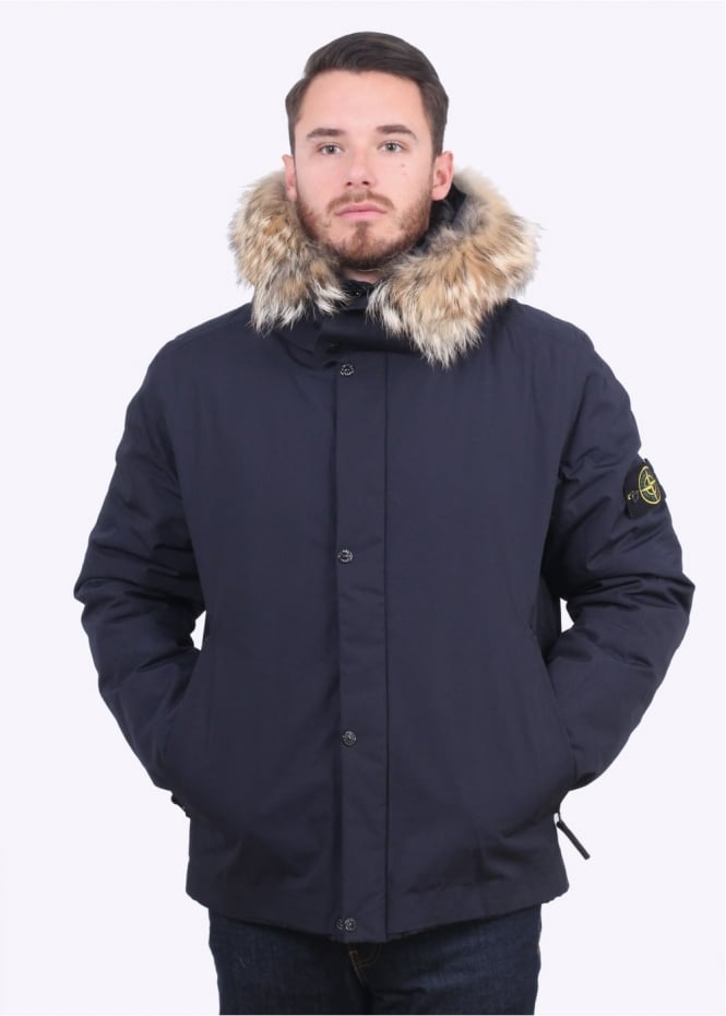 Stone Island Water Repellent Parka - Navy