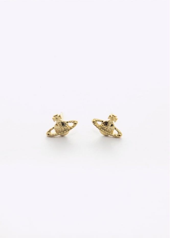 Vivienne Westwood Accessories Farah Earrings Yellow Gold Small