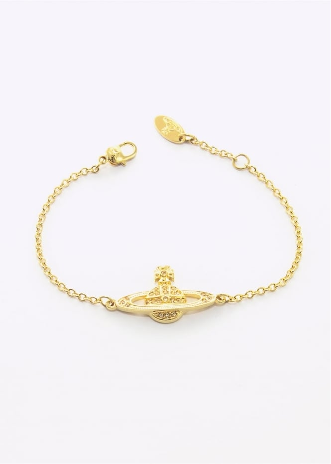 Vivienne Westwood Accessories Jewellery Mini Bas Relief Bracelet Gold