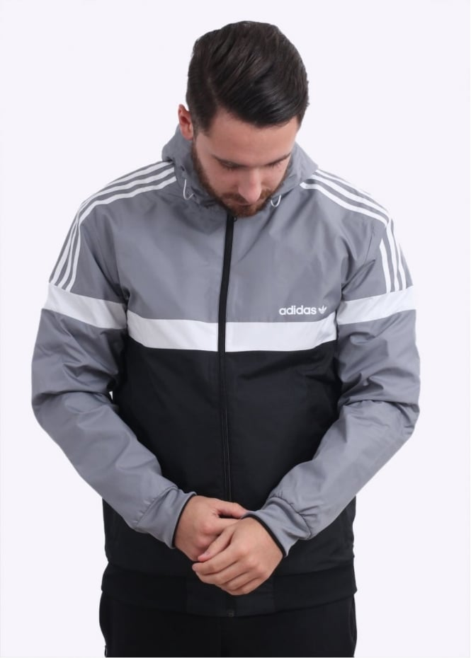 Adidas Originals Apparel Reversible Windbreaker - Grey / Black