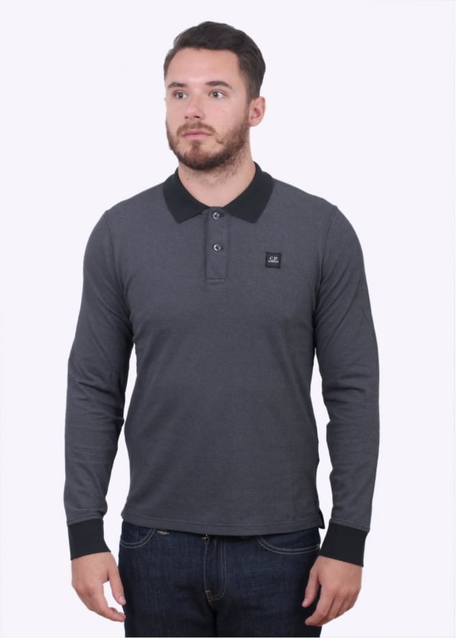 C.P. Company Trim Polo Shirt - Dark Grey