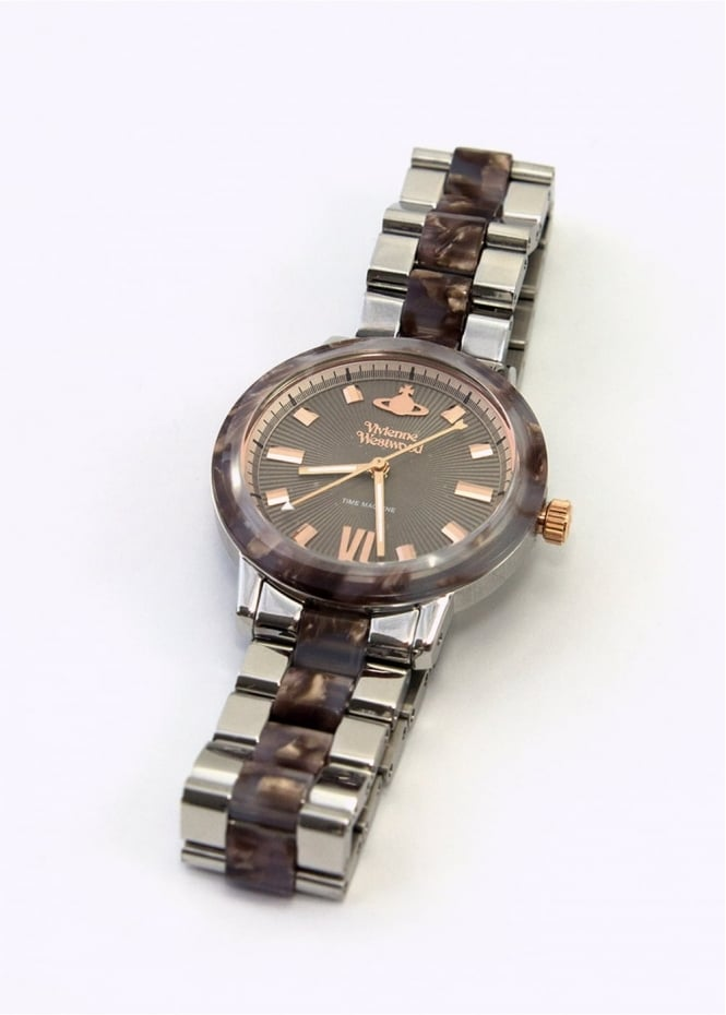 Vivienne Westwood Ladies Watches Marble Arch Watch Silver/Brown