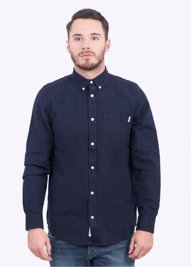 Carhartt LS Dalton Shirt - Blue / Black