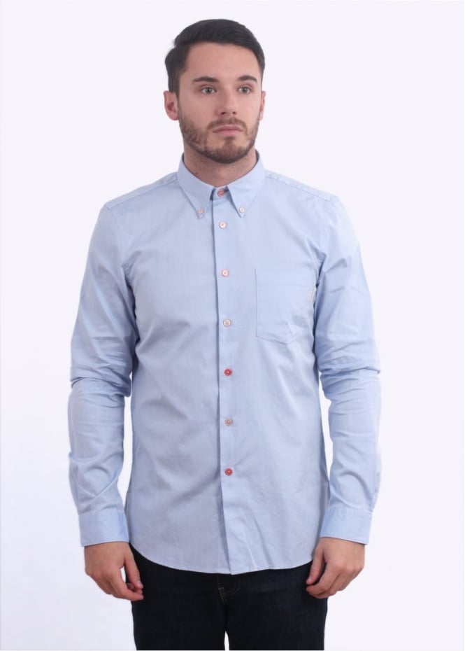 Paul Smith LS Tailored Fit Shirt - Light Blue