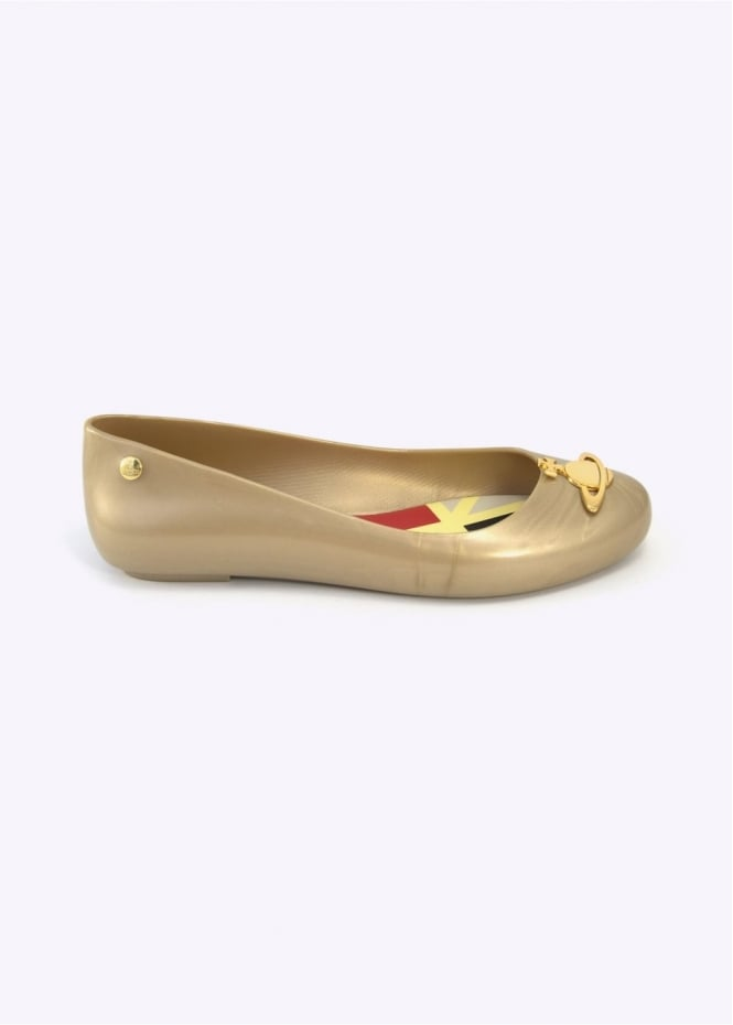 Shoes Anglomania x Melissa Space Love Gold Pearlized