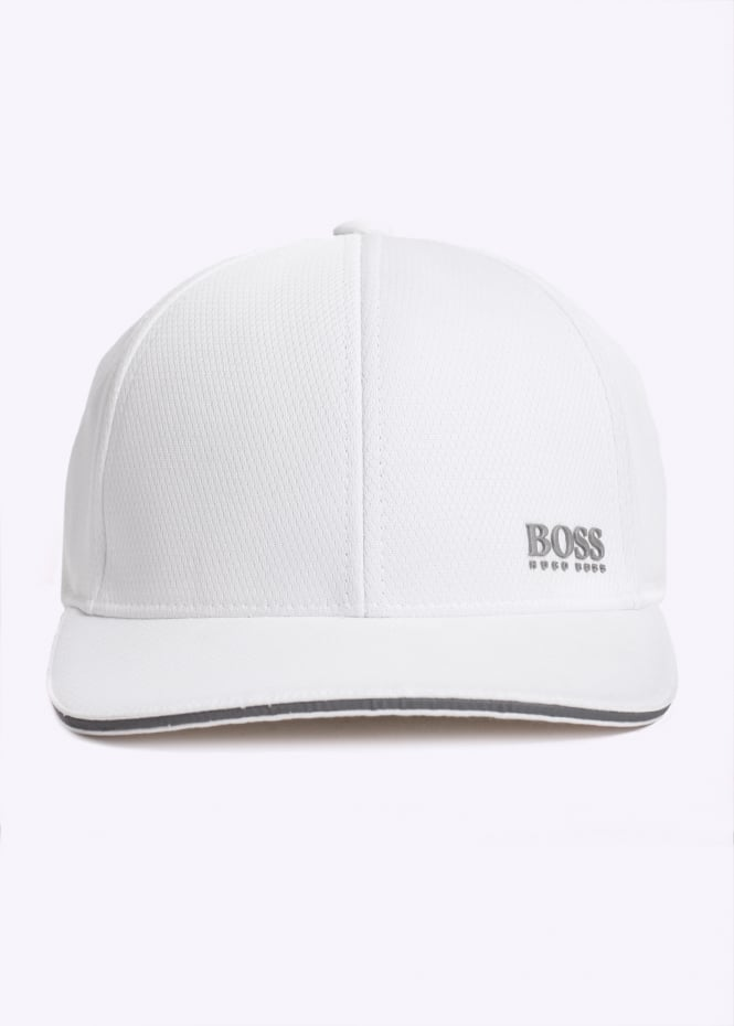 BOSS Green Catch-5 Cap - White - Triads Mens from Triads UK f88ab177304