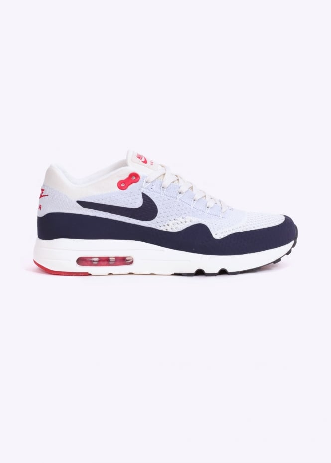 665f495c95a11 nike footwear ultra flyknit air max 1 2.0 grey university red trainers uk